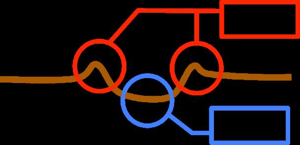 衝突時の断面図