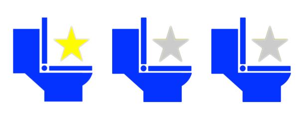 トイレ星1つ