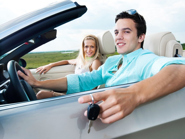 Close-up of a beautiful couple sitting in the new cabriolet car and enjoying in the road trip. The young man is showing the car keys. [url=http://www.istockphoto.com/search/lightbox/9786750][img]http://dl.dropbox.com/u/40117171/summer.jpg[/img][/url] [url=http://www.istockphoto.com/search/lightbox/9786786][img]http://dl.dropbox.com/u/40117171/couples.jpg[/img][/url]