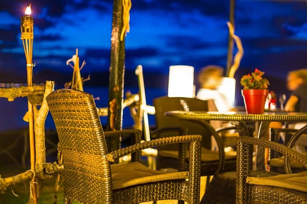 Beautiful restaurant in the night