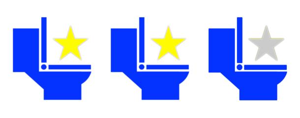 トイレ星2つ