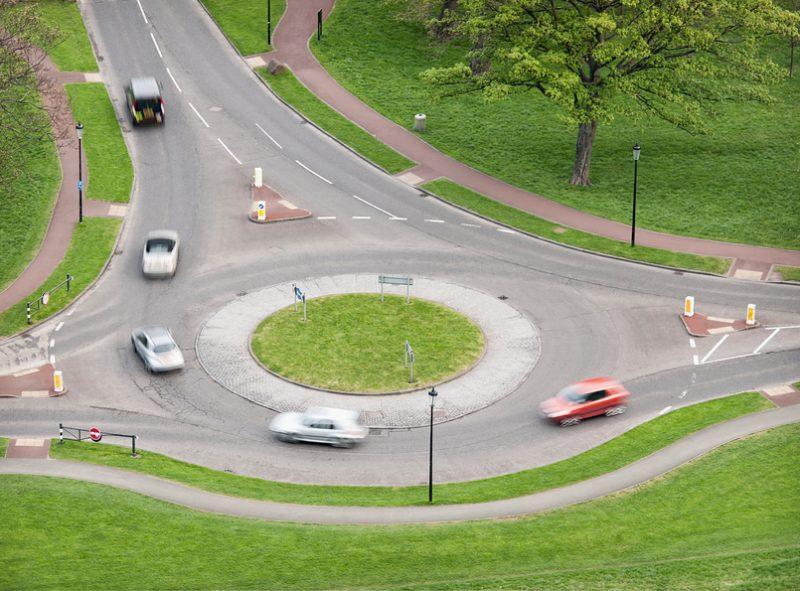 British Roundabout Traffic