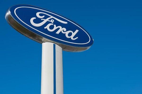knoxville, tn usa - february 25, 2012: Ford sign at Ford dealership in knoxville, tn usa.