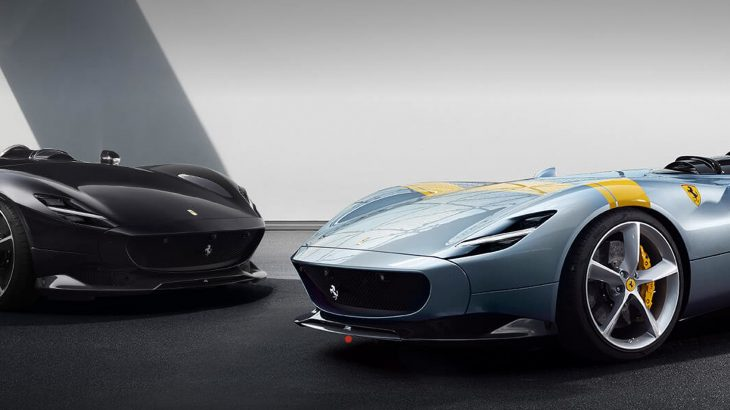 フェラーリ・812スーパーファストをベースとした限定モデル、モンツァSP1&SP2を公開!810馬力のV12エンジンを搭載したフルオープンカー!
