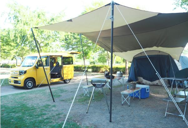 ほぼ手ぶらで「大子広域公園オートキャンプ場」に行ってきた!初心者の快適オートキャンプ記 with N-VAN
