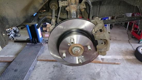 ブレーキが効かない(汗)、ローター&パッド交換+α