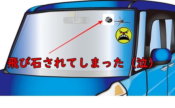 車に飛び石が当たってガラス破損、修理代や修理方法、自動車保険は使える?